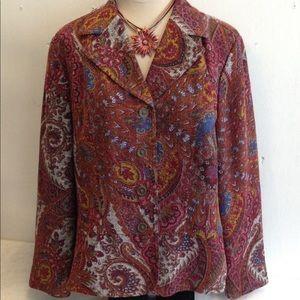 Boho Paisley Flattering Jacket Blazer